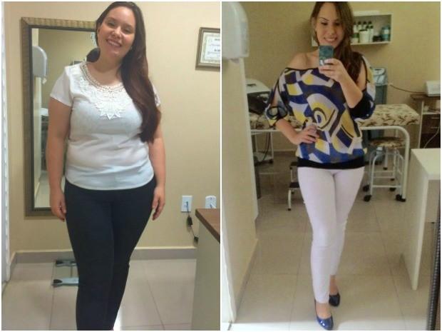 Izabel José Thomas, de 23 anos, emagreceu mais de 20 quilos com programa que promete acabar com o efeito sanfona (Foto: Arquivo Pessoal)