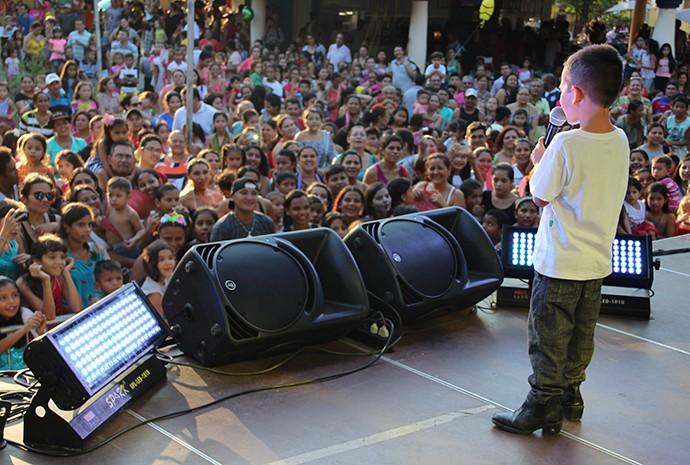 Crianças de até 15 anos participaram do evento (Foto: Katiúscia Monteiro/ Rede Amazônica)