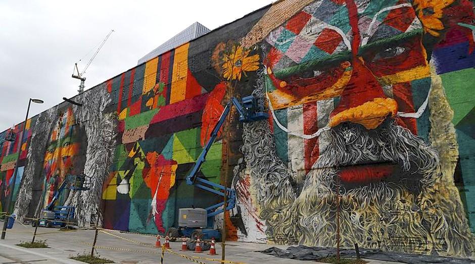 Grafite feito pelo Kobra: artista ganhou fama mundial (Foto: Reprodução)