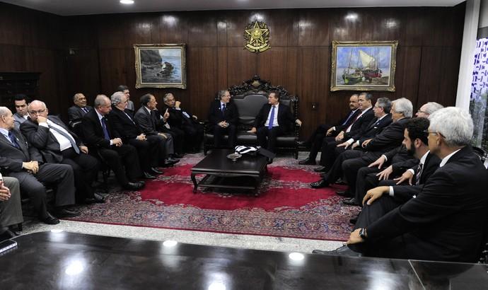 Presidentes de clubes se reúnem com presidente do Senado, Renan Calheiros (Foto: Agência Senado)
