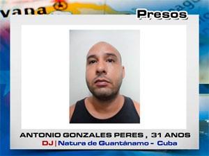 Antonio Gonzales Peres, suspeito preso (Foto: Divulgação/Degepol)