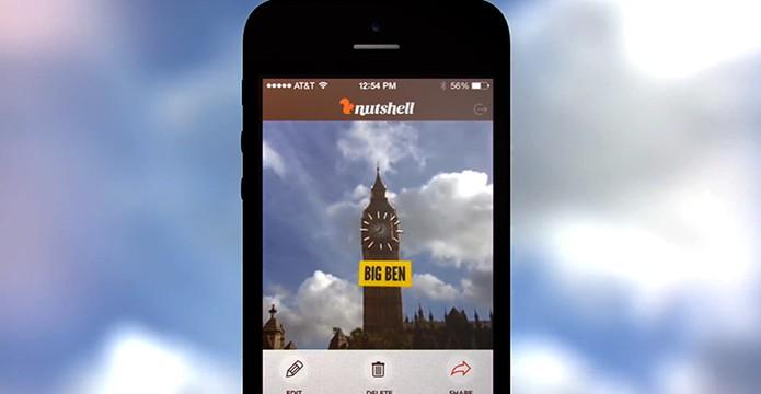 Nutshell permite editar de forma simples vídeos pessoais com efeitos e textos (Foto: Divulgação/Prezi)