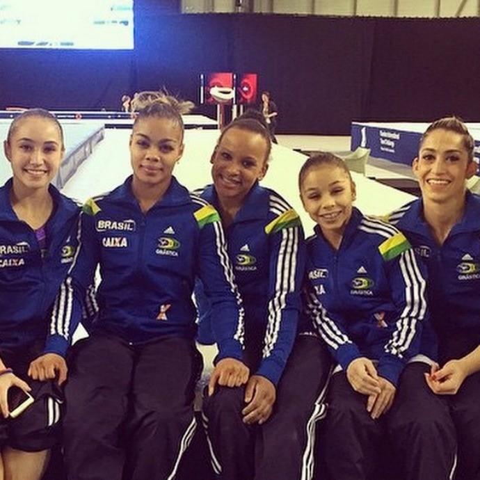 Equipe ginástica artística feminina bélgica ghent (Foto: Reprodução/Instagram)