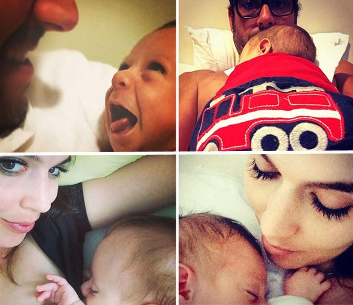Momento fofura! O casal posta fotos com o pequeno Noá nas redes sociais (Foto: Arquivo Pessoal)