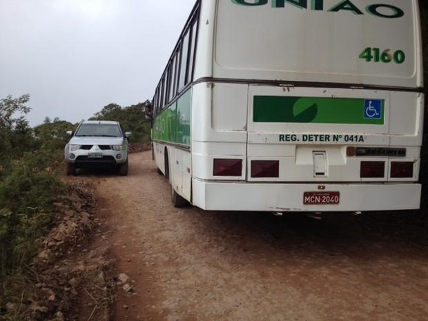 Motoristas têm dificuldades de transitar pela rodovia que liga SC e RS (Foto: RBS TV/Divulgação)