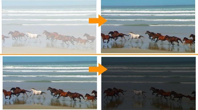 Efeito aplicado no vídeo pelo Movie Maker (Foto: Reprodução/Barbara Mannara)