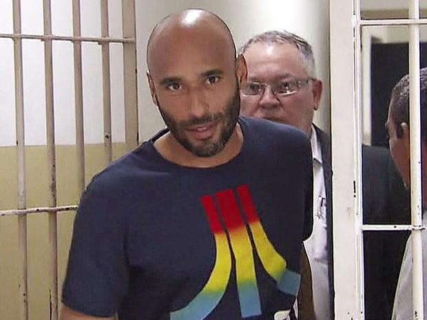 O ex-goleiro Edinho, filho de Pelé (Foto: Reprodução/TV Globo)