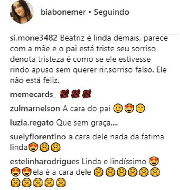 Beatriz Bonemer é comparada ao pai, William Bonner (Foto: Reprodução/Instagram)