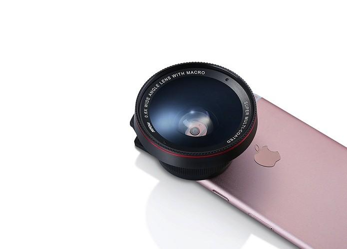 Conjunto da M Pow traz lente grande angular e macro (Foto: Divulgação/M Pow)