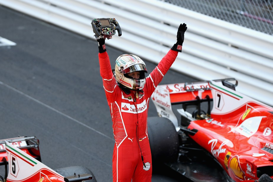 Vettel supera Kimi, encerra jejum da Ferrari em Mônaco, e dispara na liderança