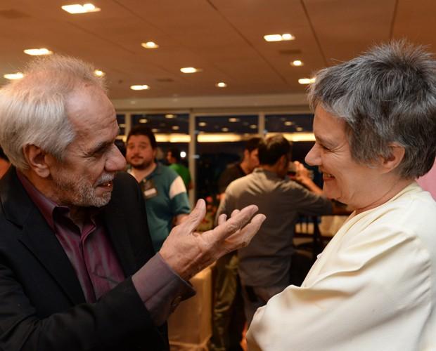 Perfeito Fortuna e Selma Egrei formam parceria ao interpretar casal há 46 anos juntos (Foto: Zé Paulo Cardeal / TV Globo)