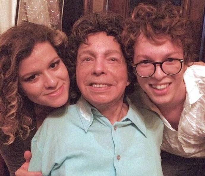 Ayrton com a cantora Ylana Queiroga e Cauby Peixoto (Foto: Arquivo pessoal)