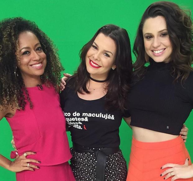 Aretha Oliveira, Fernanda Souza e Francis Helena (Foto: Reprodução)