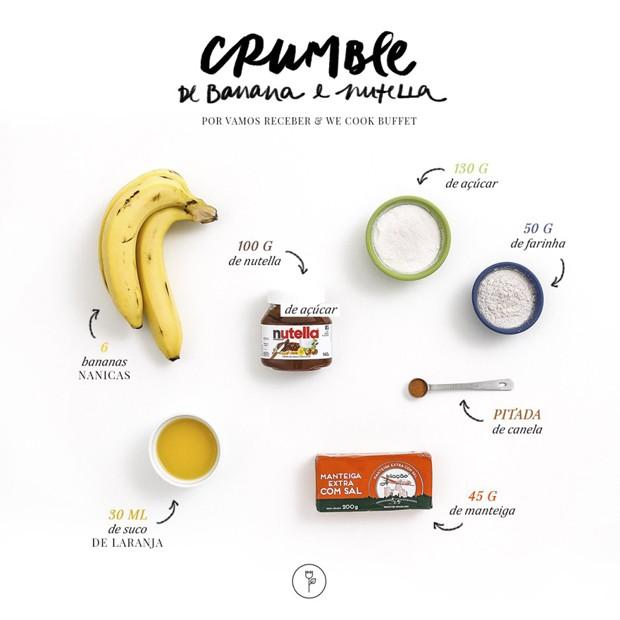 Crumble de banana (Foto: Julio Acevedo/ Karen Hofstetter)