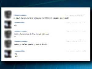 Mãe do estudante que a proposta do suspeito em uma rede social (Foto: Reprodução / TV Integração)