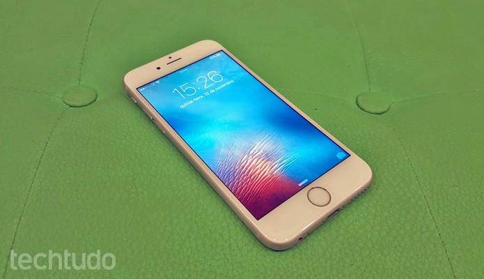 iPhone 6S: tela de 4,7 polegadas tem suporte à tecnologia 3D Touch (Foto: Thássius Veloso/TechTudo)