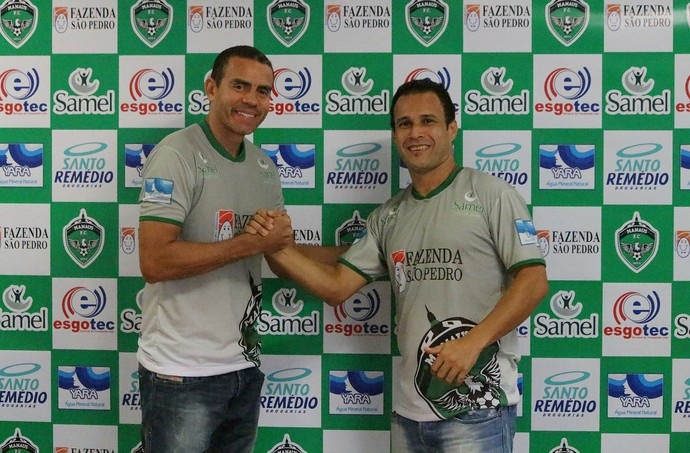 Neto e Ediglê Manaus (Foto: Emanuel Mendes Siqueira)