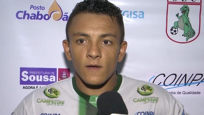 Giannotti, atacante do Sousa (Foto: Reprodução / TV Paraíba)