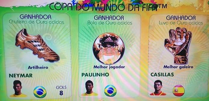 Neymar sagrou-se artilheiro da Copa do Mundo 2014 (Foto: Reprodução / TechTudo)
