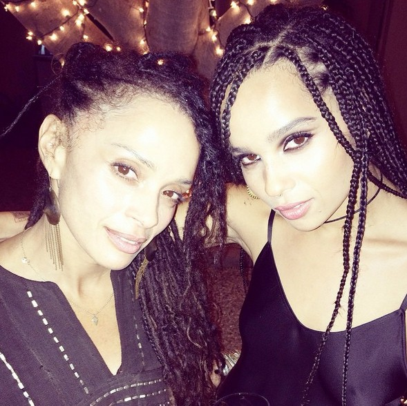 Zoe Kravitz e Lisa Bonet (Foto: Instagram)