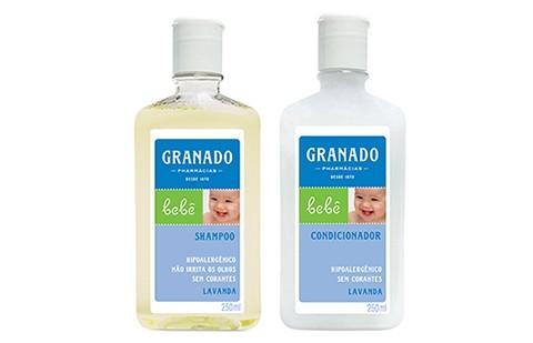 Shampoo e Condicionador Granado: ingredientes suaves para uma limpeza delicada (Foto: Divulgação)