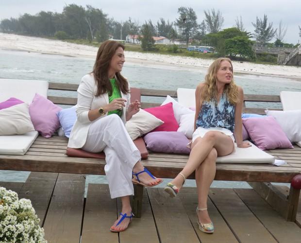 Giovanna e Angélica relembram personagens da atriz que lançaram tendências de moda (Foto: Marcele Bessa / Gshow)