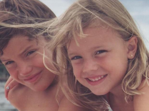 Alice Wegmann e o irmão mais velho Marcos (Foto: Arquivo pessoal)