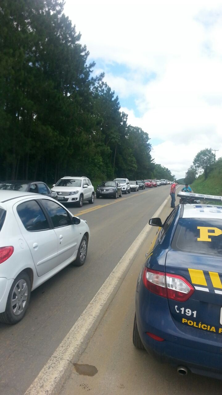 congestionamento SC (Foto: Gabriel Felipe/RBS TV)