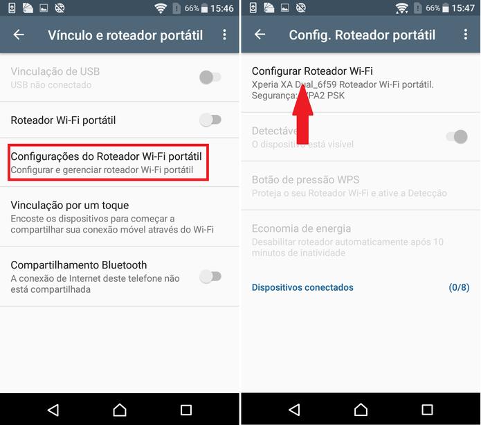 """É possível alterar informações em """"Configurar Roteador Wi-Fi"""" (Foto: Reprodução/Caio Bersot)"""