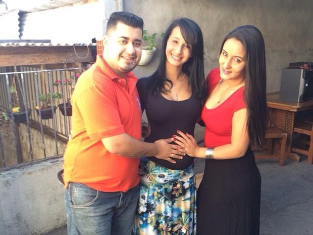 Giovanna e os tios (Foto: Arquivo Pessoal)
