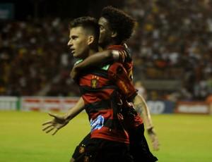 Lucas Lima comemora, Sport x Oeste (Foto: Aldo Carneiro/Futura Press)