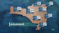 Veja como ficará o tempo em todas as regiões de SC nesta terça-feira (24)