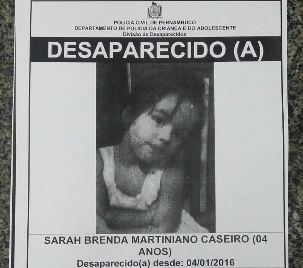 Polícia afixará cartazes em pontos estratégicos para tentar achar menina (Foto: Ascom Polícia Civil)
