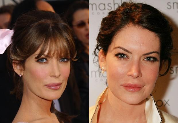 Lara Flynn Boyle em 2003 e em 2006 (Foto: Getty Images)