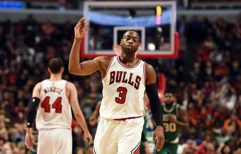 Dwyane Wade vai bem, e Bulls iniciam com boa vitória sobre o Boston Celtics