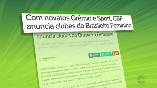 Grêmio e Inter confirmam intenção em participar de campeonatos femininos