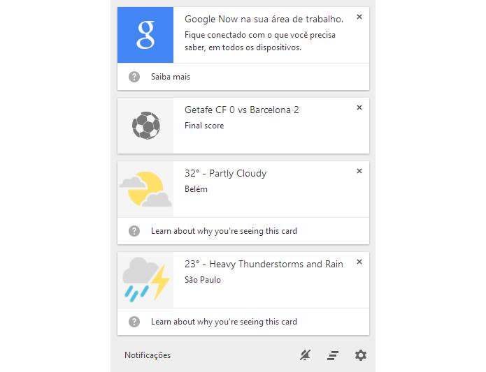 Google Now já é testado no desktop com Chrome Canary. Veja como usar (Foto: Google Now já é testado no desktop com Chrome Canary. Veja como usar)