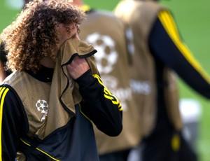 david luiz chelsea treino (Foto: Agência Reuters)