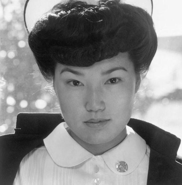 Retrato da enfermeira japonesa Aiko Hamaguchi feito durante a 2ª Guerra Mundial (Foto: Biblioteca do Congresso dos EUA)