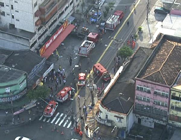 Problema teria sido causado em padaria do estabelecimento (Foto: Reprodução / TV Globo)