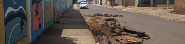 Prefeitura de Agudos prepara rua Hilário Ramos para recapeamento asfáltico (editar título)