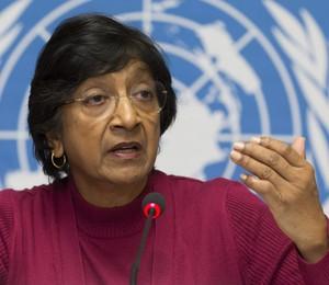 """A alta comissária das Nações Unidas para os Direitos Humanos Navi Pillay. Casos precisamos ser levados para a Justiça"""" (Foto: EFE)"""