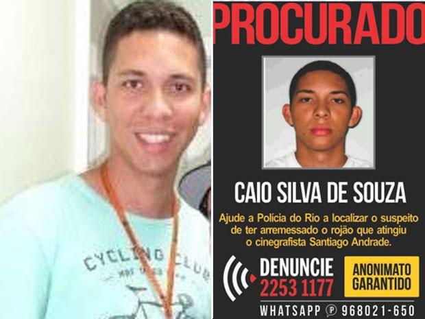 Nova foto divulgada pela polícia e cartaz do Disque-Denúncia, com a foto divulgada pela manhã (Foto: Divulgação / Polícia Civil e Divulgação / Disque-Denúncia)