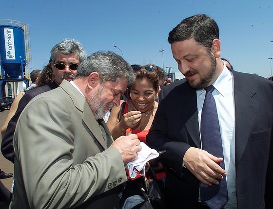 O ex-peresidente Lula e o ex-ministro Antonio Palocci (Foto:   Ormuzd Alves/Folhapress)