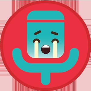 emoji the voice kids chorando (Foto: Gshow)
