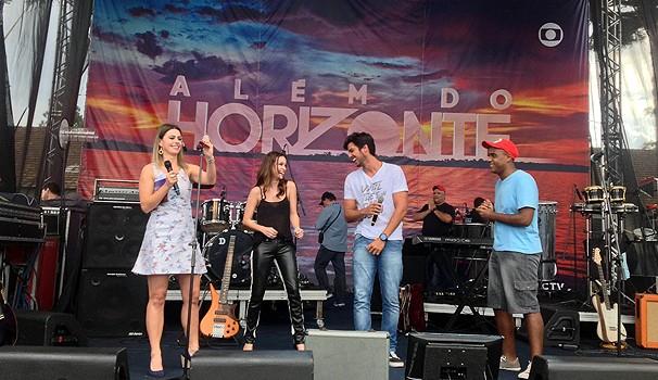 Rodrigo Simas e Marcella Valente Além do Horizonte (Foto: Divulgação/ RPC TV)