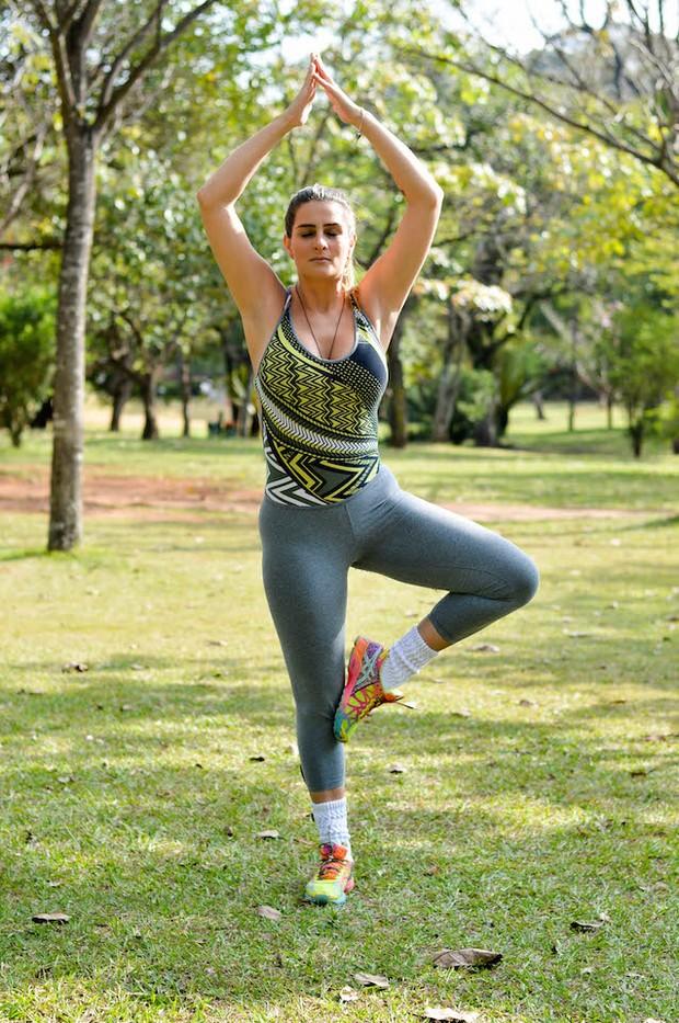 Vanessa Alcântara posa em parque e fala de lifestyle: (Foto: Eduardo Graboski / M2 Divulgação)