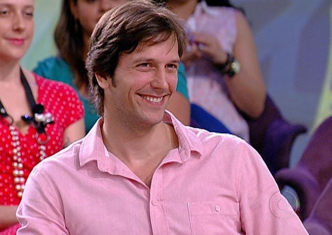 Vladimir Brichta no Encontro (Foto: Encontro com Fátima Bernardes/ TV Globo)