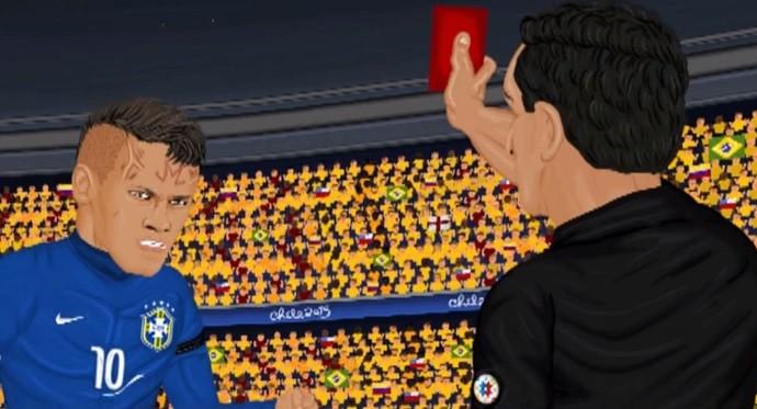 Neymar desenho animado