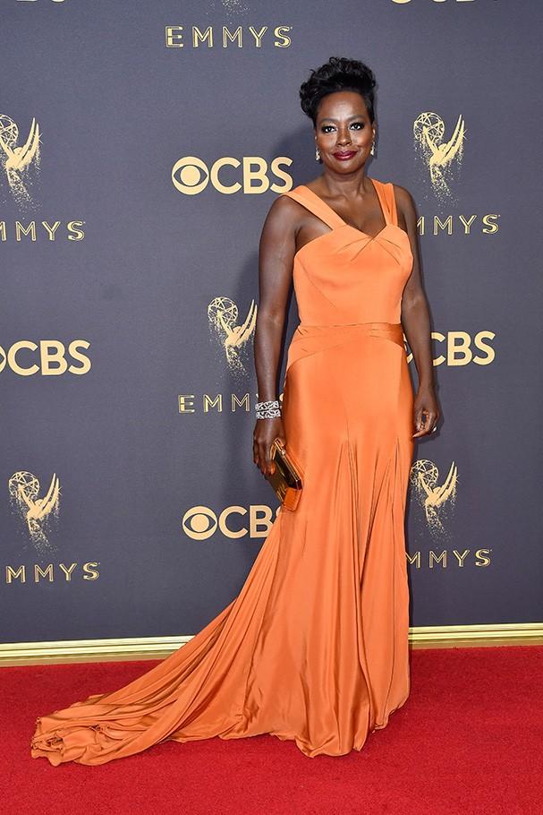 Viola Davis veste Zac Posen (Foto: Getty Images)